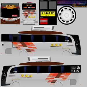 Livery Bussid Eka Cepat HD
