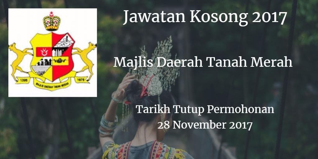 Jawatan Kosong MdTanahMerah 28 November 2017