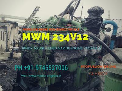 MWM, 500 HP, 600 HP, gearbox, engine, maritime, propulsion, MWM 234V12, used,
