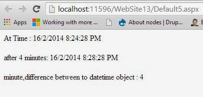 DateTime difference in minutes in C# Programming