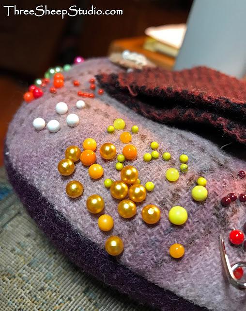 Wool Pincushion - ThreeSheepStudio.com