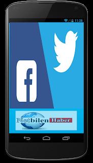 Android telefonlardan ve tabletlerden twitter ve facebooka giriş