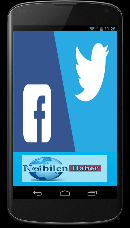 Android telefonlardan ve tabletlerden twitter ve facebooka hızlı giriş