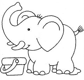 Elefantes Dibujos Para Colorear