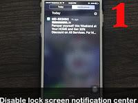 iOS9 ၏ Lock screen Notification စနစ္အား Disable ျပဳလုပ္ျခင္း