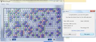 Screenshot win advanced level
