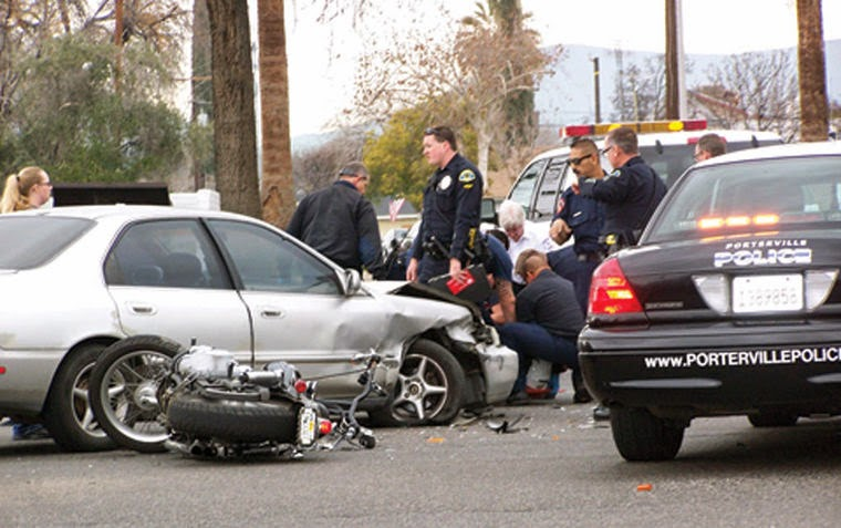 tulare county porterville motorcycle car accident morton avenue d street