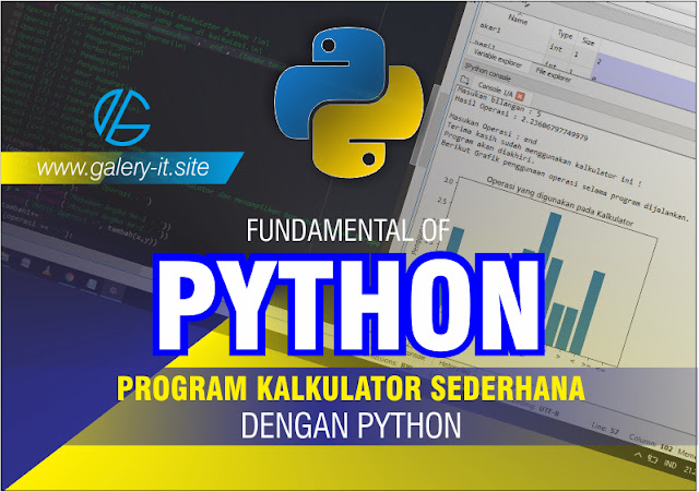 Program Python Kalkulator Sederhana Menggunakan Spyder Anaconda    Belajar Python Dasar