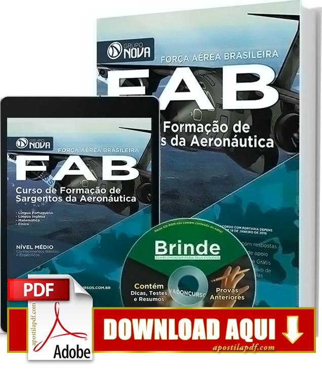 Apostila FAB 2016 Sargento da Aeronáutica PDF Download Grátis