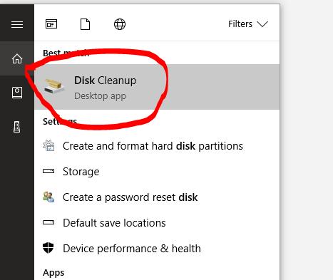 Cara hapus Junk File Windows 10