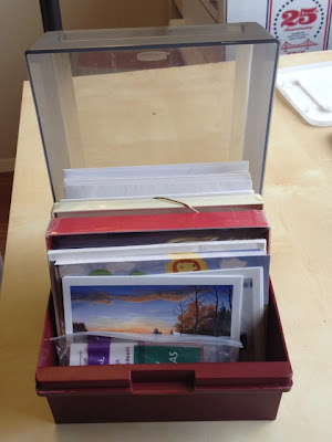 floppy disk storage box used to hold greeting cards