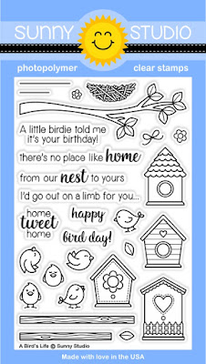 Sunny Studio Stamps A Bird's Life 4x6 Photopolymer Clear Stamp Set
