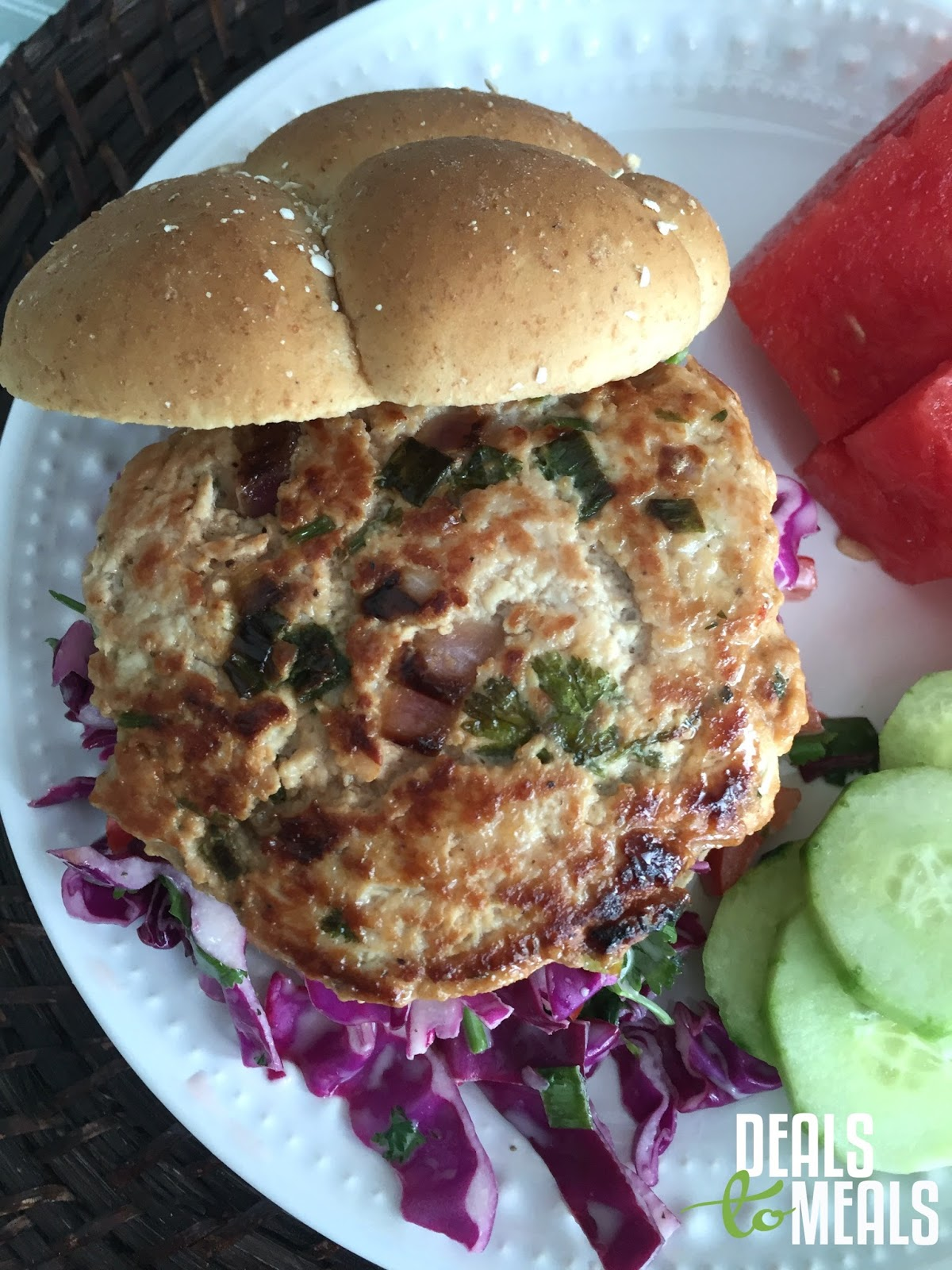 Asian Chicken Burgers With Coleslaw Deals To Meals