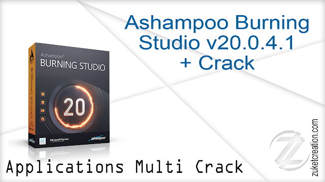 Ashampoo Burning Studio v20.0.4.1 + Crack