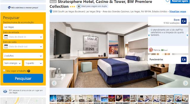 Estadia no Stratosphere Hotel & Casino em Las Vegas