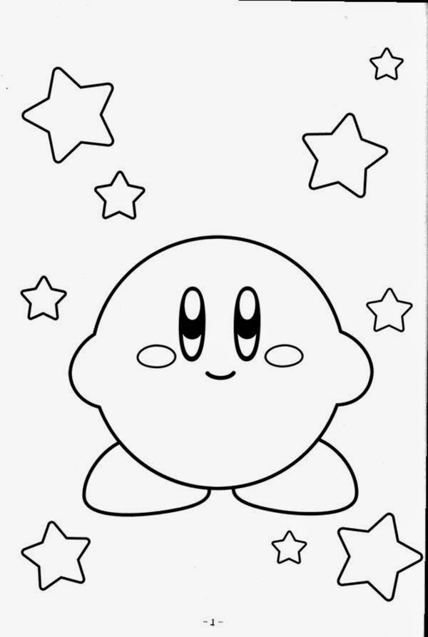 free character coloring pages | Coloring Pages For Kids - Together Kirby Coloring Pages ...
