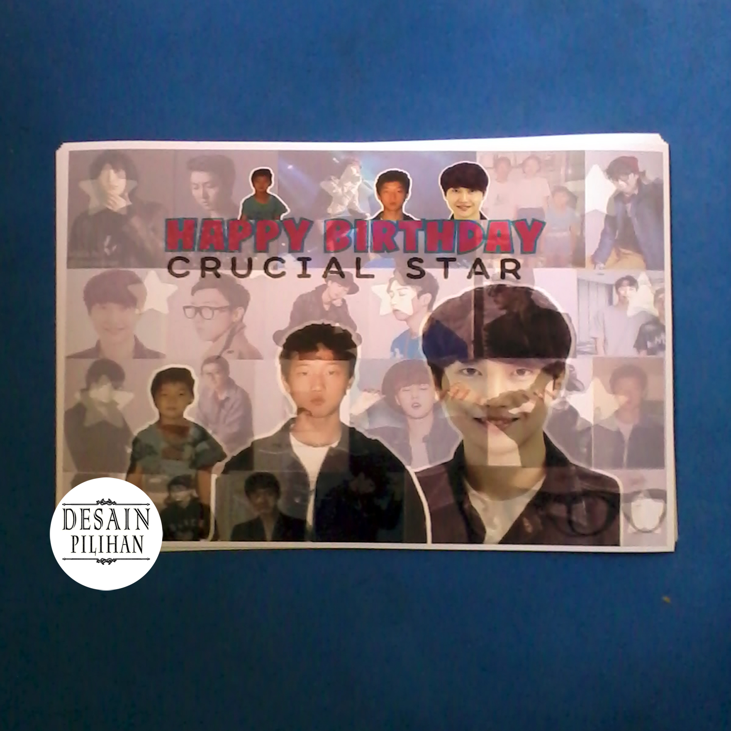POSTER KADO ULANG TAHUN - HAPPY BIRTHDAY CRUCIAL STAR