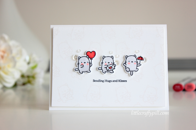 little crafty pill clean and simple mini cards