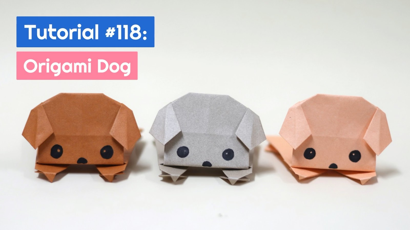 How to Make Origami Cat & Origami Dog | Easy Toy Craft | Paper Art ... | 900x1600