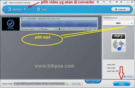 Merubah Video menjadi format mp3