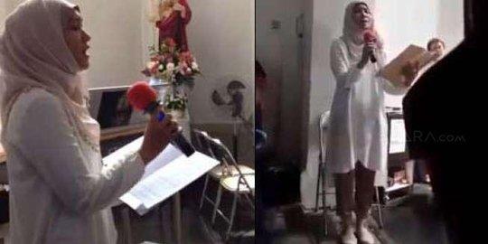 Menyanyikan lagu 'Ave Maria' di Gereja, Wanita Berhijab ini Banjir Kritikan