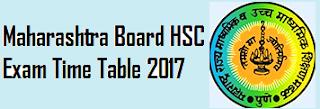 HSC Time Table 2017 Maharashtra Board