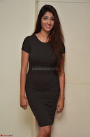 Priya Vadlamani super cute in tight brown dress at Stone Media Films production No 1 movie announcement 009.jpg