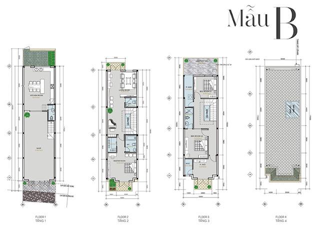 Mẫu thiết kế căn hộ Shophouse Lakeside Infinity