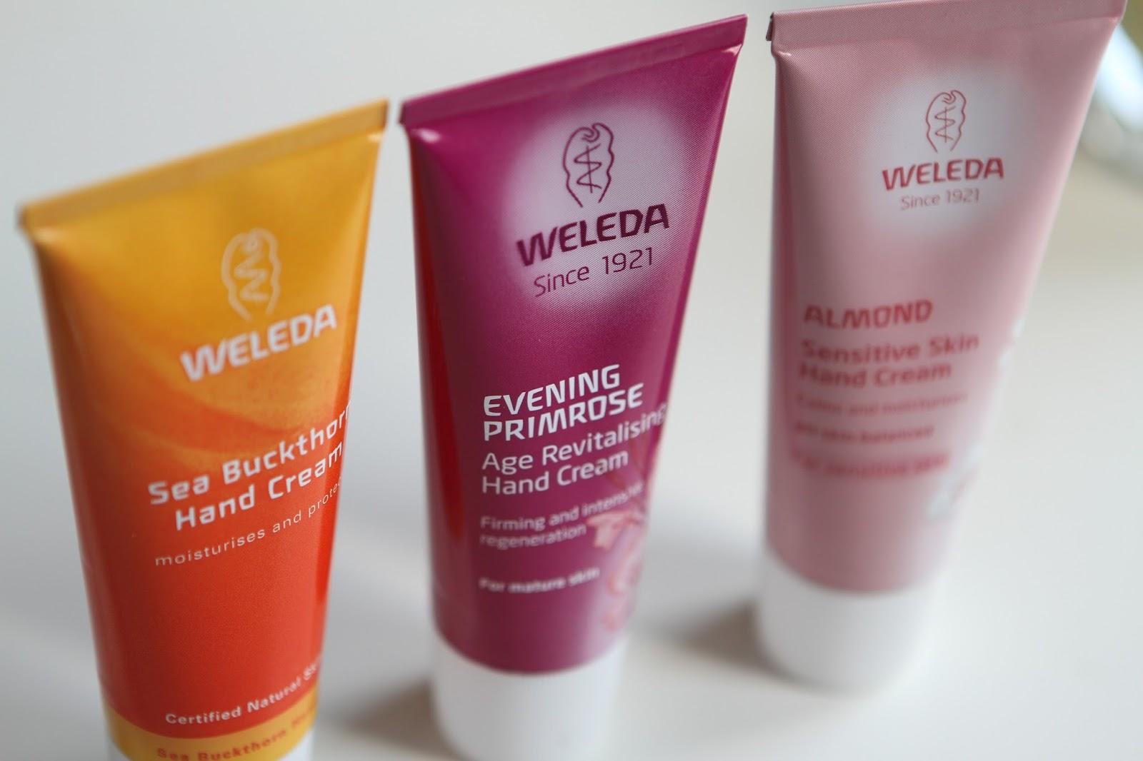 Weleda hand cream trio]