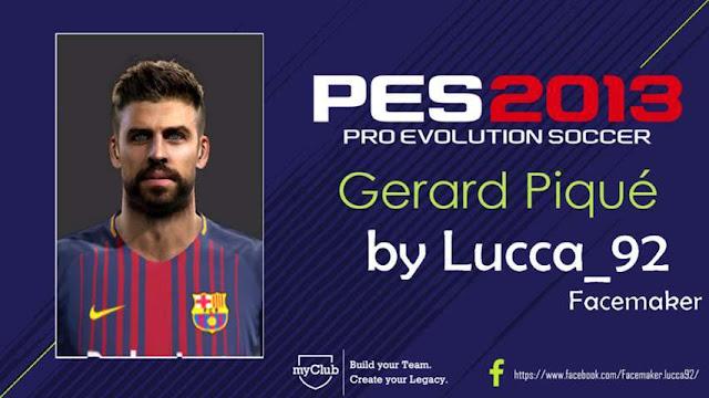 Gerard Pique Face PES 2013