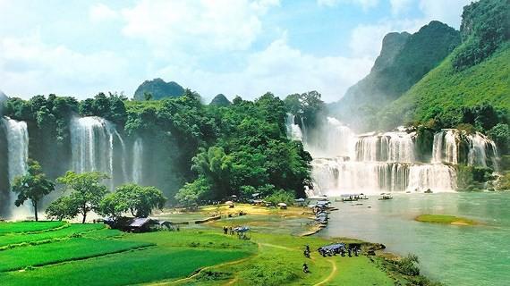 Thác Bản Giốc nằm trong Công viên địa chất toàn cầu - Ảnh: Báo Sài Gòn Giải Phóng
