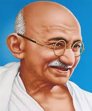 Mohandas Karamchand Gandhi, commonly known as Mahatma Gandhi.