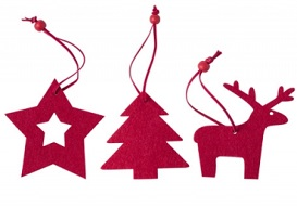Prueba de decoraciones de Navidad