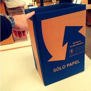 papeleras de carton