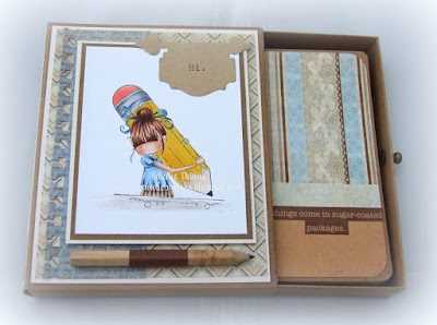Design Team Thursday with Stamping Bella - Drawer Box and matching Notebook tutorial!