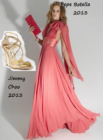 f66571885 Vestido fiesta coral. El rosa que se lleva es el coral  romántico pero  exótico y muy bonito