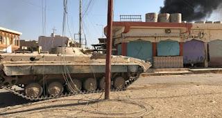 مدونة العراق : الحشد الشعبي  يدمر سيارة مفخخة حاولت إعاقة تقدم القوات بالقرب من جامع المدينة المنورة الكبير وسط تلعفر