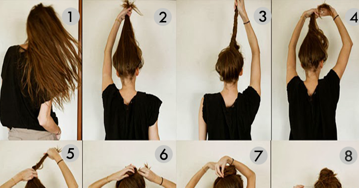 Messy Bun Hairstyles For Long Hair Step By Step Beautiful