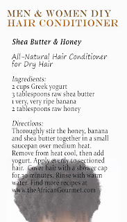 No need for his and hers hair conditioner products, there is little difference between the sexes when it comes to hair. Add easy DIY African Shea Butter and Honey All-Natural Hair Conditioner to your homemade recipe hair files for thick healthy hair.