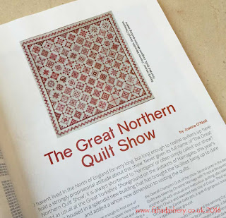 'Nearly Insane Quilt' by Frances Meredith featured in British Patchwork and Quilting magazine, November 2016