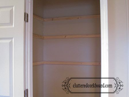 Pantry Project - part 2 - The shelves