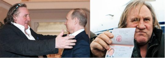 Владимир Путин вручает российский паспорт ополченцу