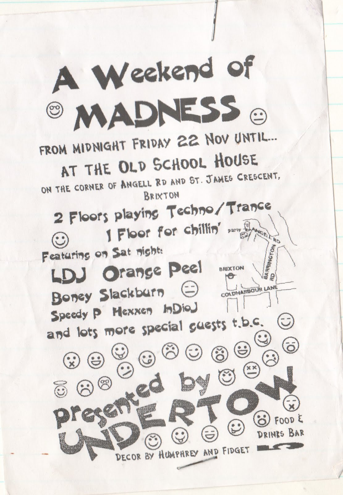 smash the records: Party flyers (1995-2001)