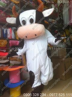 may bán mascot con bò