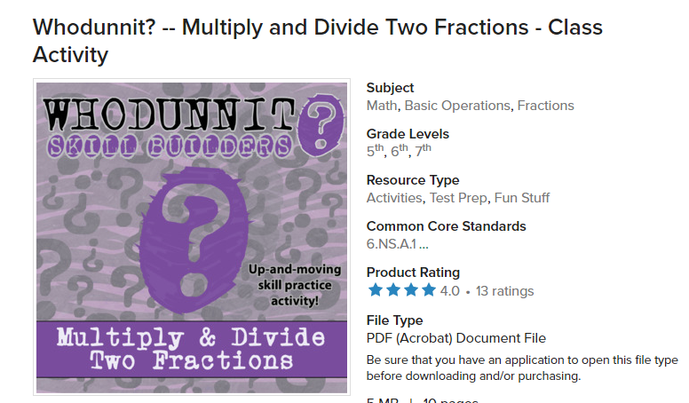 Math with Mrs  D: Multiply and Divide Fractions: Kahoot (Day 4)