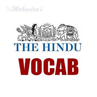 The Hindu Vocabulary ( IBPS Clerk Based) | 28 -11 - 17