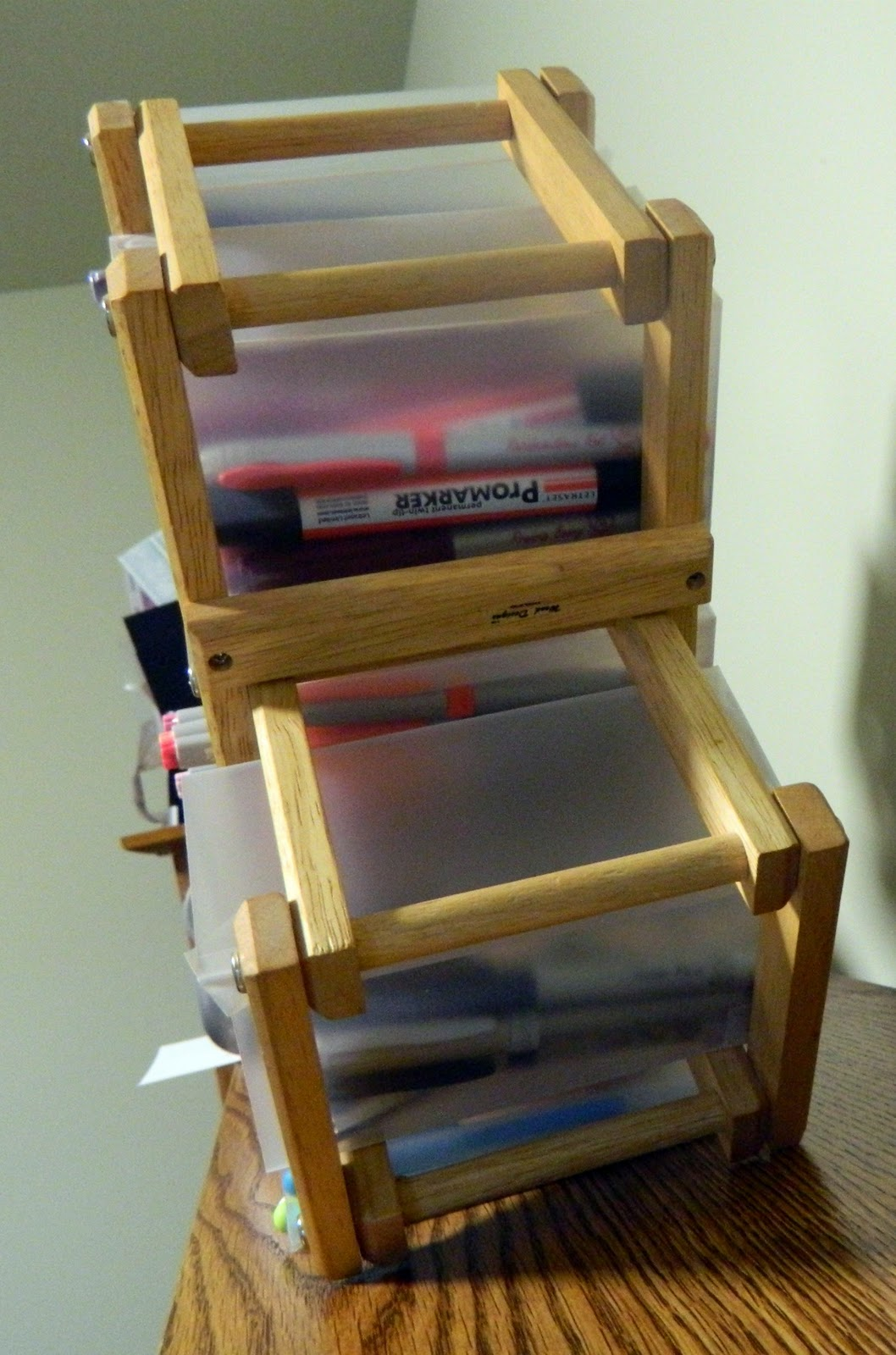1cardcreator Transform An Old Wine Rack Into Marker Storage