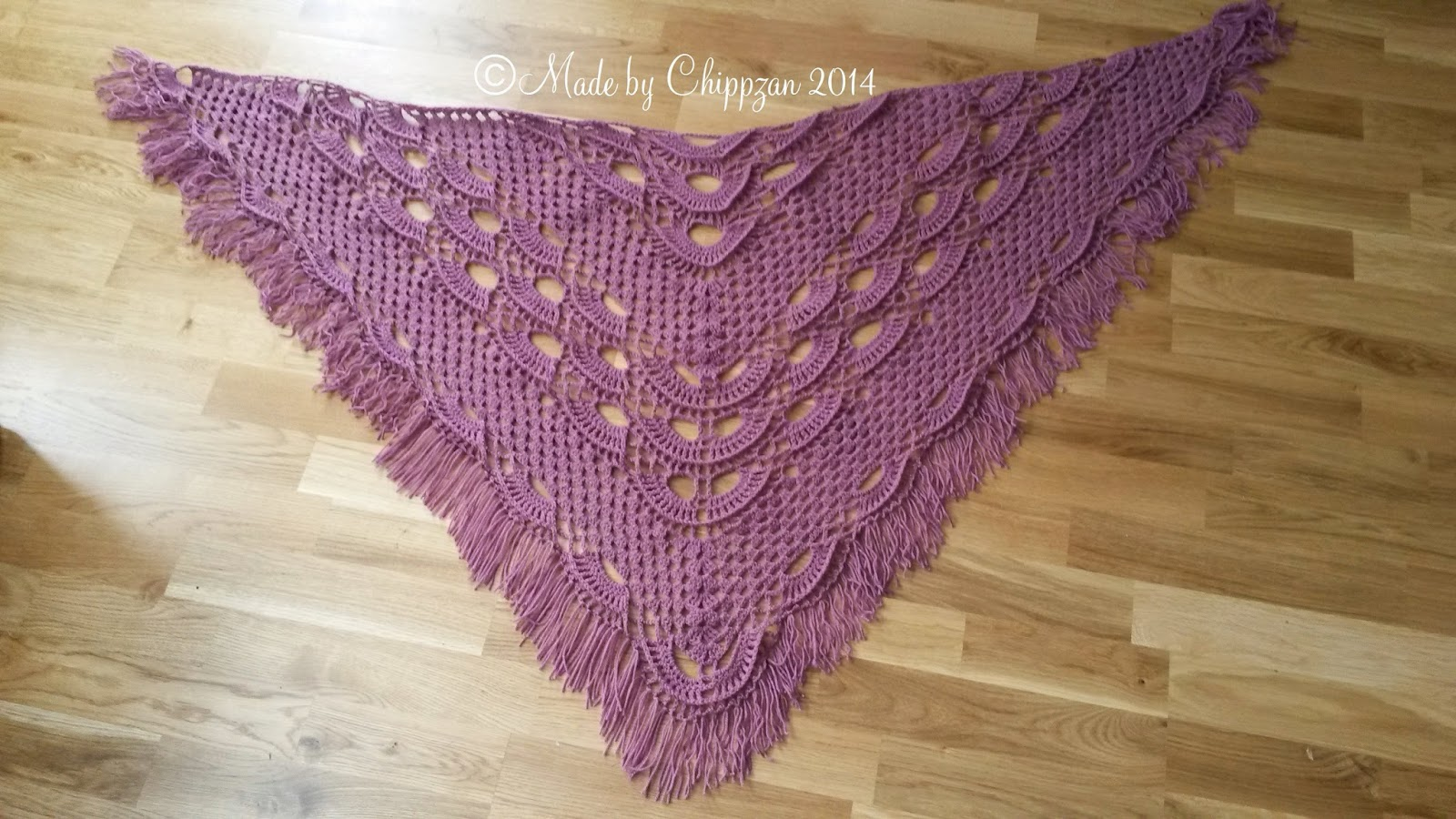 Russian Lace Crochet Scarf Diagram 1998 Bmw Z3 Radio Wiring Made By Chippzan Shawl With Shells And Clusters Of