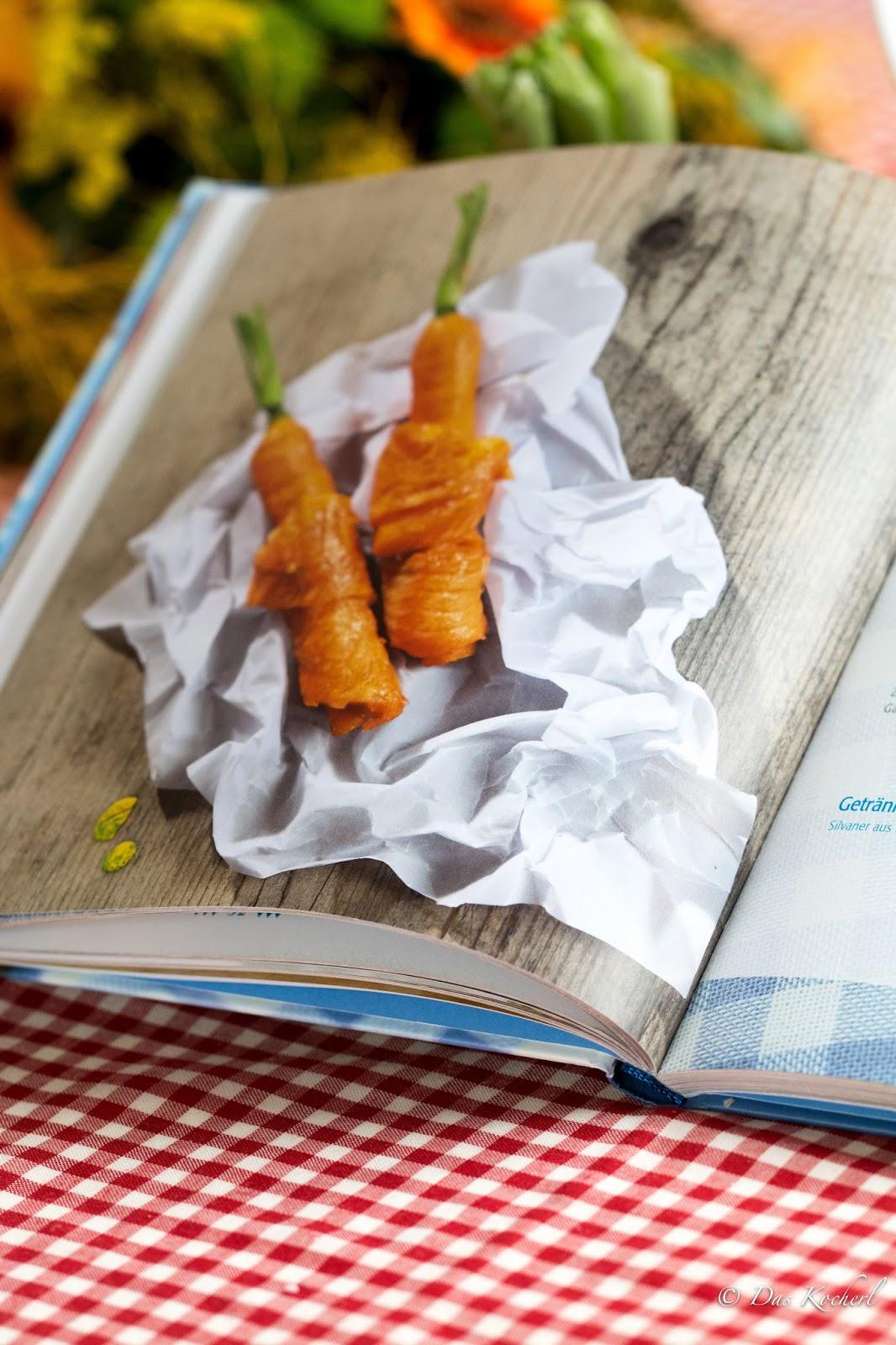 Karotten-Steckerlfisch