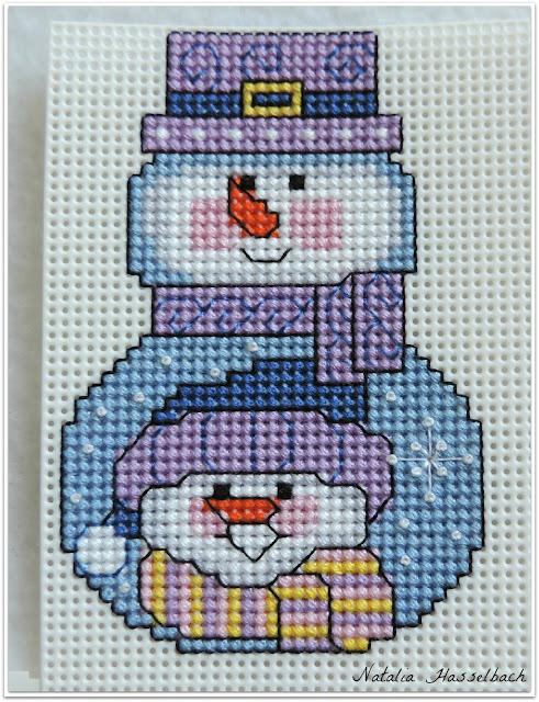 Снеговик вышивка пластиковая канва сп вышивканапластике Janlynn Wizzers новогодняя игрушка на елку